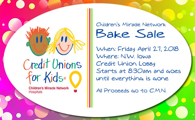 Children's Miracle Network Bake Sale