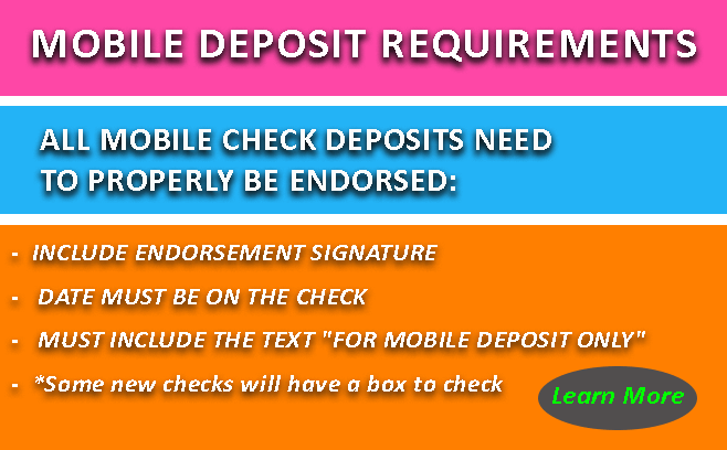 Mobile Deposit Requirements